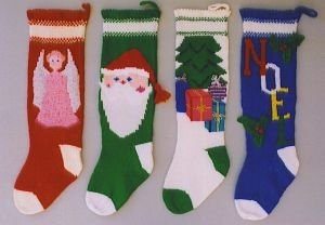 Ann Norling Patterns - 1018 - Knitted Christmas Stockings II Pattern