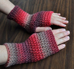Crystal Palace Yarns Mochi Plus Every Day Fingerless Gloves Kit - Crochet for Adults