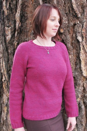 Knitting Pure and Simple Women's Sweater Patterns - 0265 - Mid Weight Neck Down Pullover Pattern
