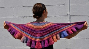 Crystal Palace Yarns Danube Aran Ruffled Shawl Kit - Scarf and Shawls