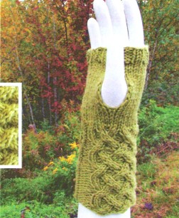 Vermont Organic Fiber Co. O-Wool Classic Basket Lattice Fingerless Gloves Kit - Hats and Gloves