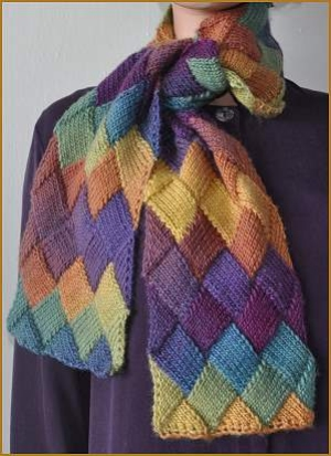 Crystal Palace Yarns Mochi Plus Entrelac Scarf Kit - Scarf and Shawls