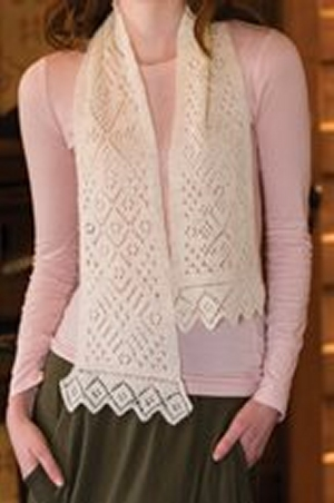 Rowan Fine Lace Snowflake Lace Scarf Kit - Scarf and Shawls