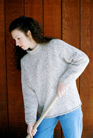 Knitting Pure and Simple Women's Sweater Patterns - 9724 - Neckdown Pullover for Women Pattern