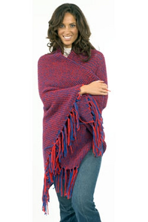 Plymouth Yarn Encore Worsted Side to Side Team Afghan Kit - Women's Accessories