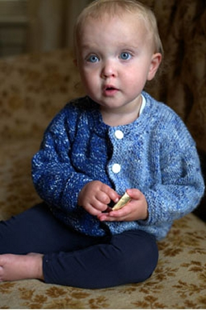 Plymouth Yarn Jelli Beenz Two Color Baby Cardigan Kit - Baby and Kids Cardigans