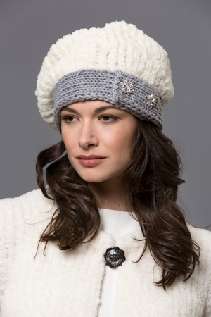 Filatura Di Crosa Zara 14/Zara Fur Liana Beret Kit - Hats and Gloves