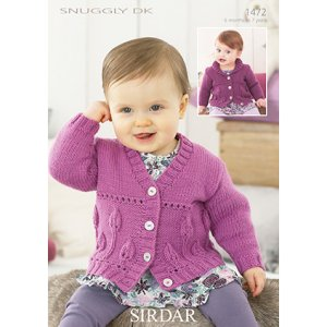 Sirdar Snuggly Patterns - Baby and Children Patterns - 1472 Girl's Cardigan - PDF DOWNLOAD photo