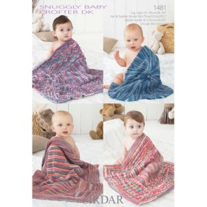 Sirdar Snuggly Patterns - Baby and Children Patterns - 1481 Four Baby Blankets - PDF DOWNLOAD photo