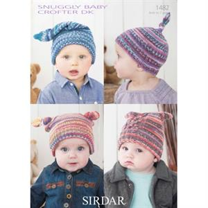 Sirdar Snuggly Patterns - Baby and Children Patterns - 1482 Four Hats - PDF DOWNLOAD photo