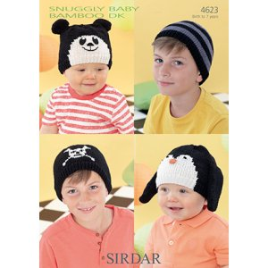 Sirdar Snuggly Baby and Children Patterns - 4623 Four Cute Hats Pattern
