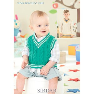 Sirdar Snuggly Baby and Children Patterns - 4529 Boy's Sweater and Vest Pattern