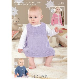 Sirdar Snuggly Baby and Children Patterns - 4470 Pinafore and Cardigans - PDF DOWNLOAD Pattern