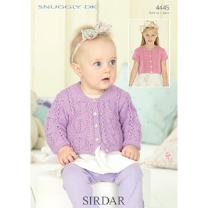 Sirdar Snuggly Baby and Children Patterns - 4445 Heart Cardigan Pattern