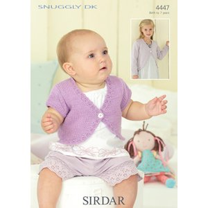 Sirdar Snuggly Baby and Children Patterns - 4447 Boleros Pattern