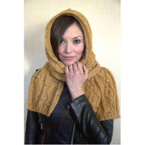 Plymouth Yarn Patterns - Women's Accessory Patterns - 2867 Hooded Scarf
