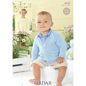 Sirdar Snuggly Baby and Children Patterns - 4433 Cardigans with Pockets Pattern