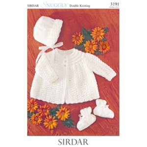 Sirdar Snuggly Baby and Children Patterns - 3191 Baby Trio Pattern