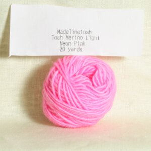 Madelinetosh Tosh Merino Light Samples Yarn - Neon Pink (Discontinued)