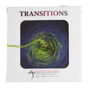 Trendsetter Transitions Yarn - 3 Navy/Royal/Lime