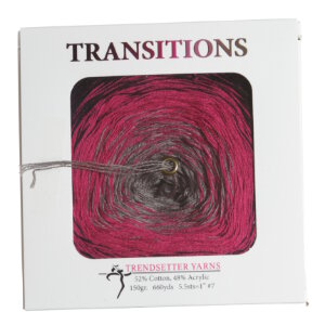 Trendsetter Transitions Yarn - 5 Black/Fuchsia/Taupe