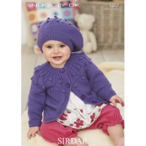 Sirdar Snuggly Baby and Children Patterns - 1267 Cardigan and Beret Pattern
