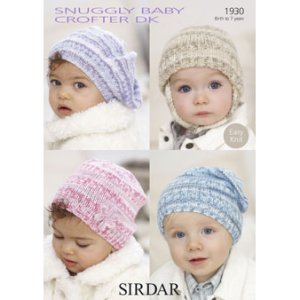 Sirdar Snuggly Patterns - Baby and Children Patterns - 1930 Baby's and Child's Hats - PDF DOWNLOAD photo