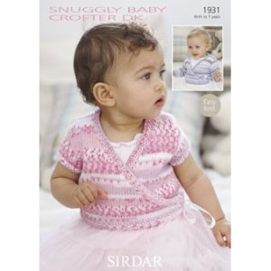 Sirdar Snuggly Baby and Children Patterns - 1931 Baby Girl's Ballet Cardis Pattern