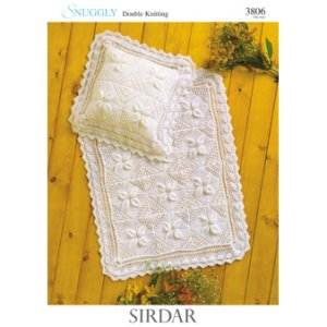 Sirdar Snuggly Baby and Children Patterns - 3806 Blanket and Pillowcase Pattern