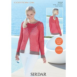Sirdar Cotton DK Patterns - 7737 Crochet Top Pattern