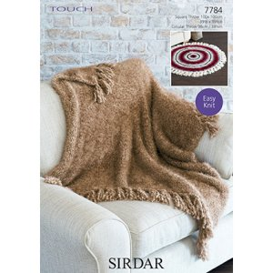Sirdar Touch Patterns - 7784 Throws Pattern