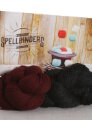 Jimmy Beans Wool SPELLBINDERS Magic Kit - Cascade 220 Fingering - Jet & Burgundy