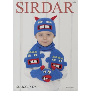 Sirdar Snuggly Patterns - Baby and Children Patterns - 2471 Gloves, Hat & Scarf Set photo