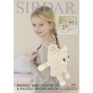 Sirdar Snuggly Baby and Children Patterns - 4671 Booties and Bag Pattern