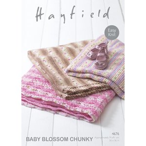 Hayfield Patterns - Baby Blossom Chunky Patterns - 4676 Blankets - PDF DOWNLOAD photo