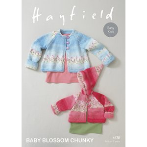 Hayfield Baby Blossom Chunky Patterns - 4678 Baby Coat - PDF DOWNLOAD Pattern