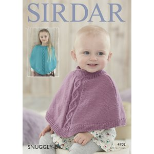 Sirdar Snuggly Baby and Children Patterns - 4702 Round Neck Poncho Pattern
