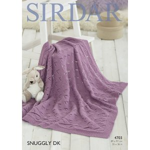 Sirdar Snuggly Baby and Children Patterns - 4703 Baby Blanket - PDF DOWNLOAD Pattern