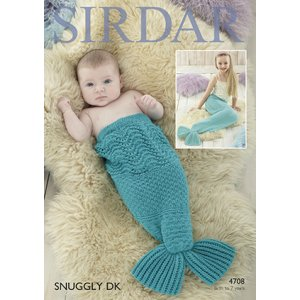 Sirdar Snuggly Baby and Children Patterns - 4708 Mermaid Tail - PDF DOWNLOAD Pattern