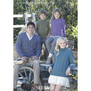 Sirdar Harrap Tweed DK Patterns - 7396 Family Pullovers Pattern