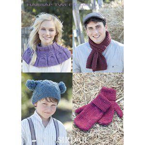 Sirdar Harrap Tweed DK Patterns - 7398 Accessories Pattern