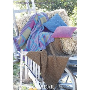Sirdar Harrap Tweed DK Patterns - 7480 Throw and Pillow Cover Pattern