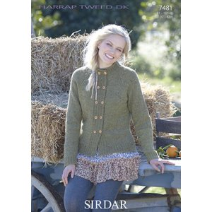 Sirdar Harrap Tweed DK Patterns - 7481 Jacket Pattern