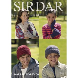 Sirdar Harrap Tweed DK Patterns - 7830 Hat & Gloves - PDF DOWNLOAD Pattern