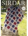 Sirdar Harrap Tweed DK Patterns - 7833 Crocheted Afghan - PDF DOWNLOAD