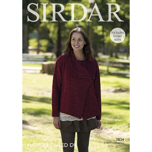Sirdar Harrap Tweed DK Patterns - 7834 Lace Edge Jacket - PDF DOWNLOAD Pattern