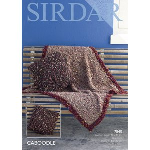 Sirdar Caboodle Patterns - 7840 Throw & Pillow Cover Pattern