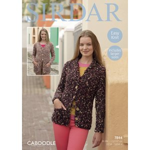 Sirdar Caboodle Patterns - 7844 Cardigan Pattern