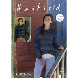 Hayfield Illusion Patterns - 7859 Pullover Pattern
