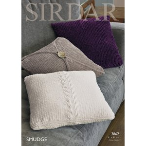 Sirdar Smudge Patterns - 7867 Pillow Covers Pattern